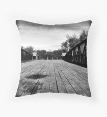 swing bridge V Throw Pillow