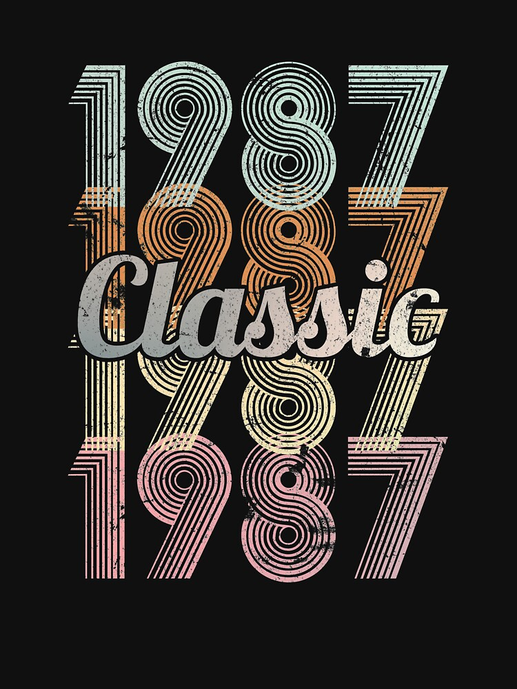 1987 Classic 32 years old birthday by hsco