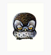 Grumpy Owl Art Print