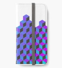 Abstract Neon Cubes iPhone Wallet/Case/Skin