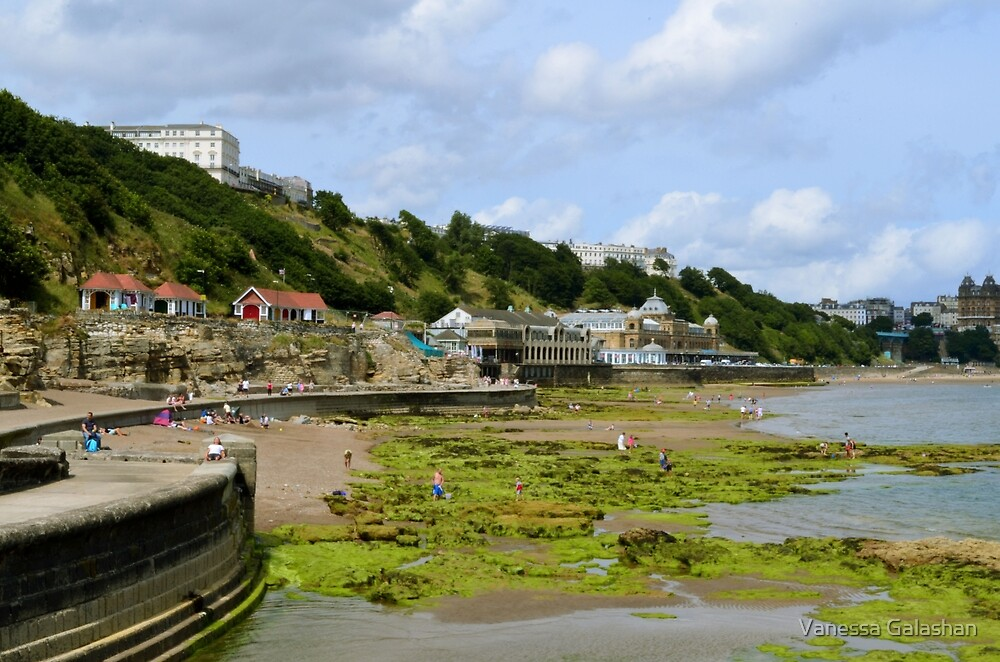 Scarborough Spa and south bay coastline by Vanessa Galashan