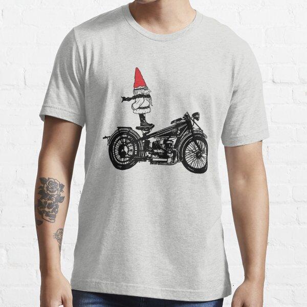 Biker Gnome Line Drawing Essential T-Shirt