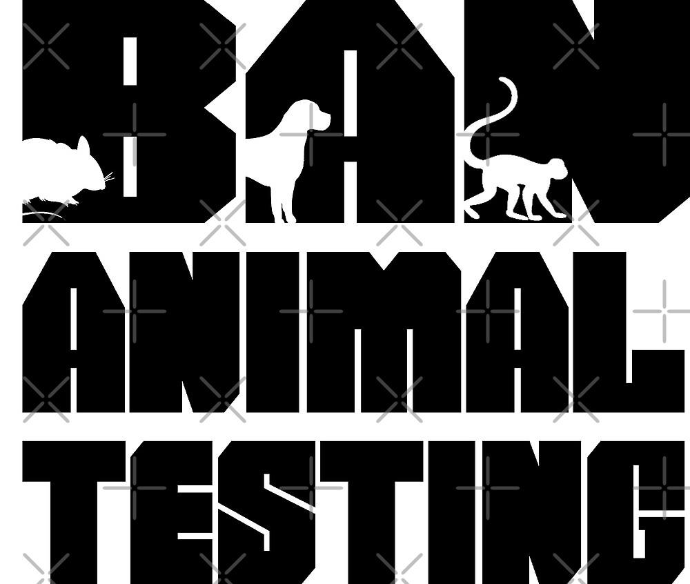 Ban animal testing by veganstickers