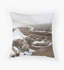 Nomads' habitation Throw Pillow