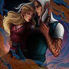 Aelin and Rowan by dianulala
