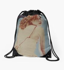 lost in a blue place Drawstring Bag