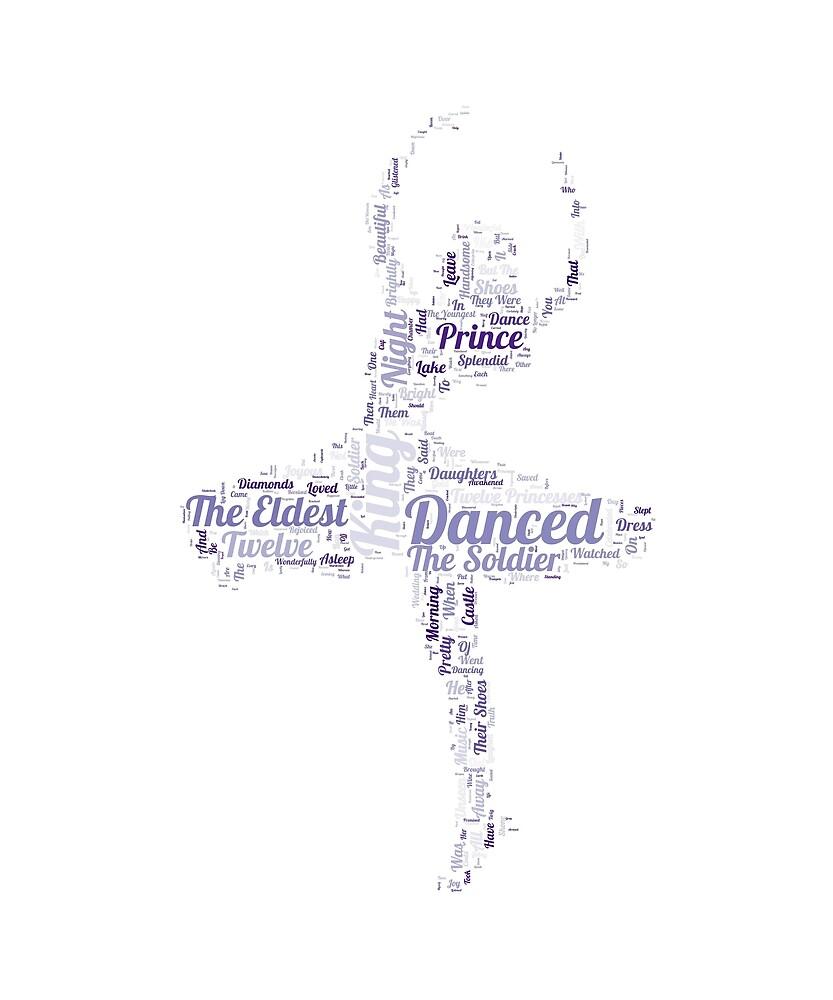 The Twelve Dancing Princesses Word Art by Amy Olsen
