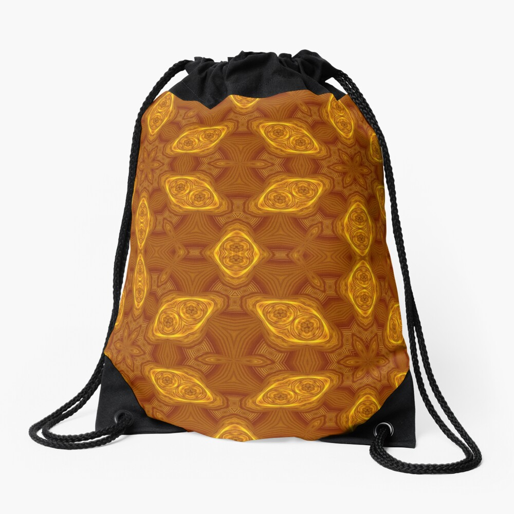 Water lily pads abstracted #2 Drawstring Bag