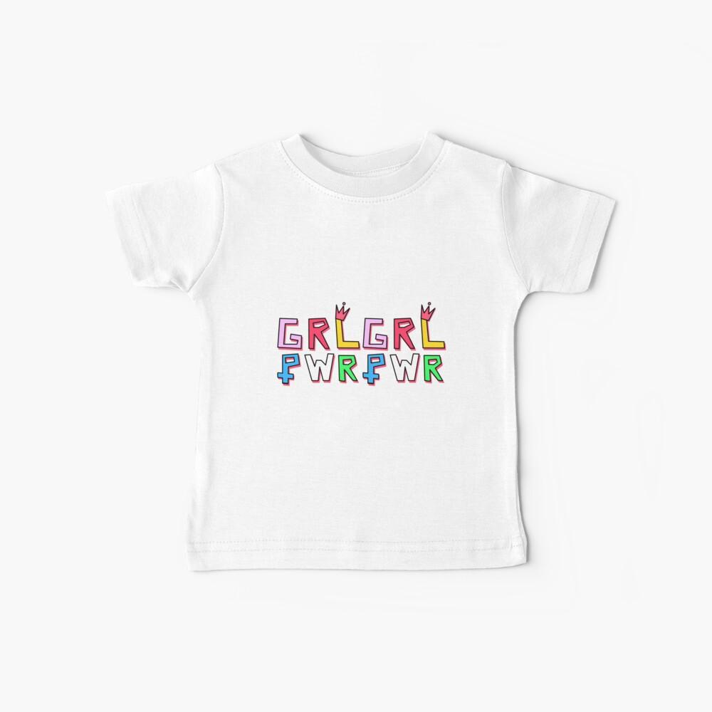 Patrón GRL PWR Camiseta para bebés