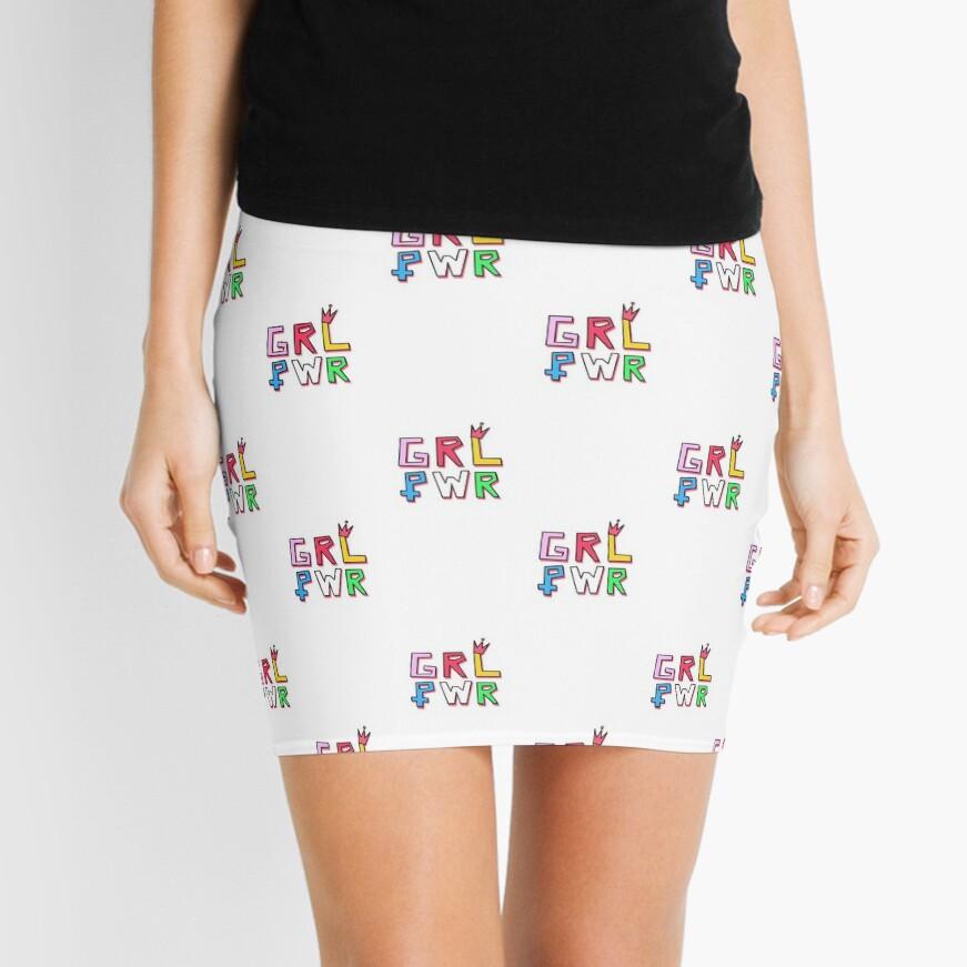 Patrón GRL PWR Minifalda