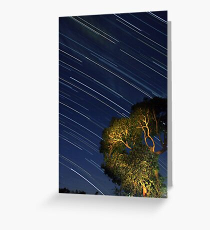 Star Trails from Home Greeting Card