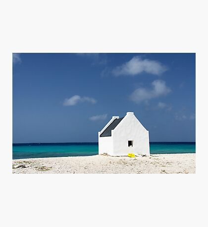 Slave Hut, White Slave Beach, Bonaire Photographic Print