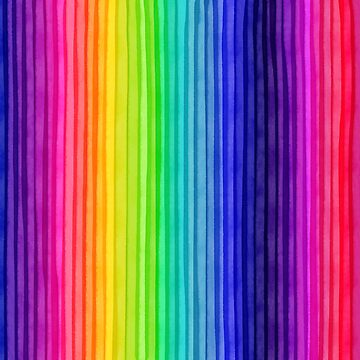 Rainbow Water Colour Stripes - Vertical. 001 by ColourPortal101