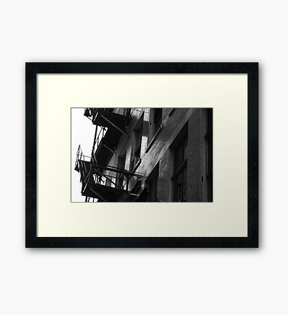Exit Through The Alley Framed Print