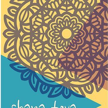 Shana tova Jewish new year stickers by undainty