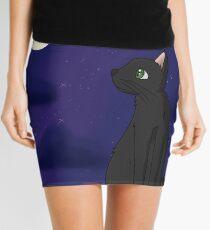Schwarze Katze - Hintergrund Minirock