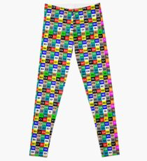 3D Art UV Grid Leggings