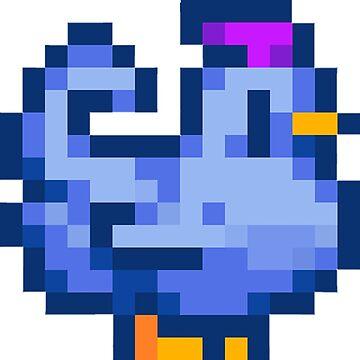 Stardew Valley- Blue Chicken by QuantumShoulder