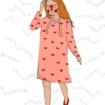 Girl in a flower dress by VeeraNoir