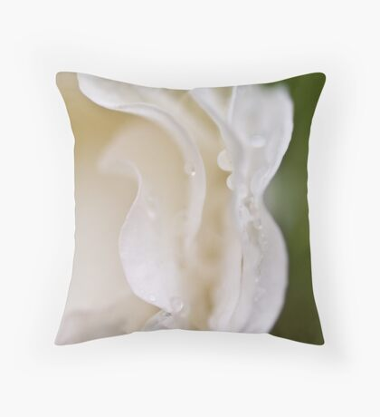 The hem of the bride's frock Throw Pillow