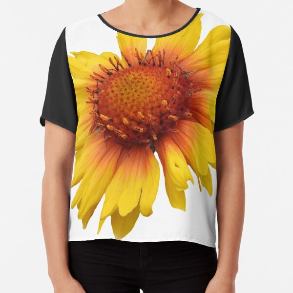 Blanket-Flower Chiffon Top