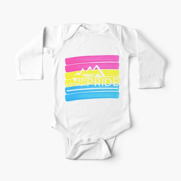Pansexual West Lothian Logo Long Sleeve Baby One-Piece