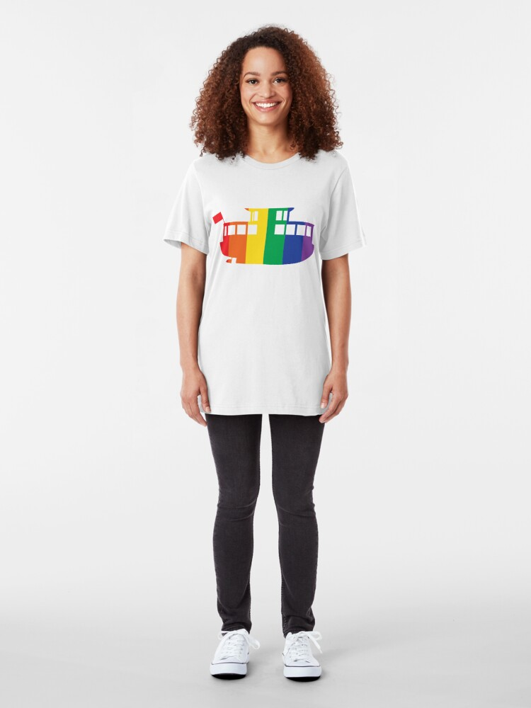 Alternate view of Rainbow Logo Slim Fit T-Shirt
