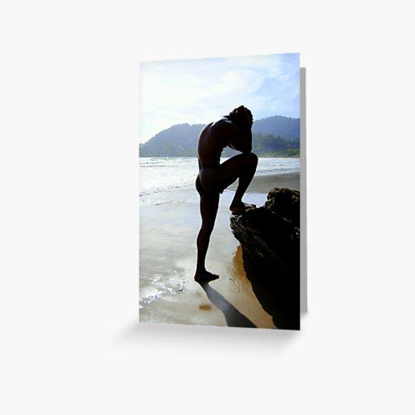Beach silhouette Greeting Card
