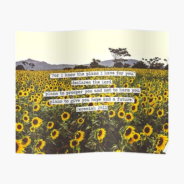 Jeremiah Sunflowers Poster
