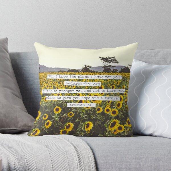Jeremiah Sunflowers Throw Pillow