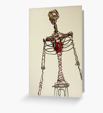 Wire Figure Greeting Card