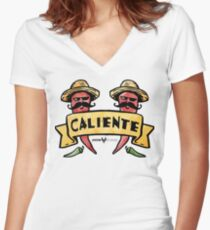 Yo soy Caliente Women's Fitted V-Neck T-Shirt