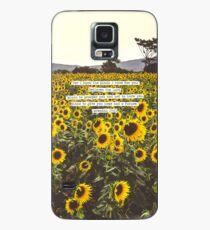 Funda/vinilo para Samsung Galaxy Jeremiah Sunflowers