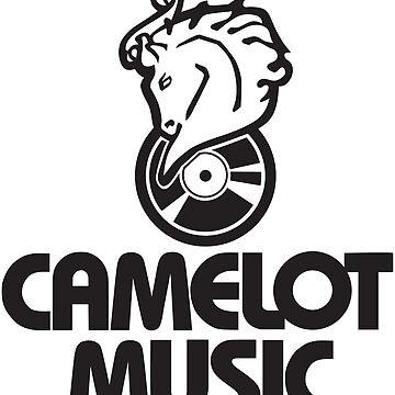 CAMELOT MUSIC T-SHIRT Defunct Music Store T-Shirt - Grey Version by darkvortex