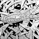 270 - STYLISED PERCH - DAVE EDWARDS - INK by BLYTHART