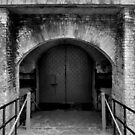 Fort Barrancas' Archs and Doors IV (B&W) by Magricely Diaz