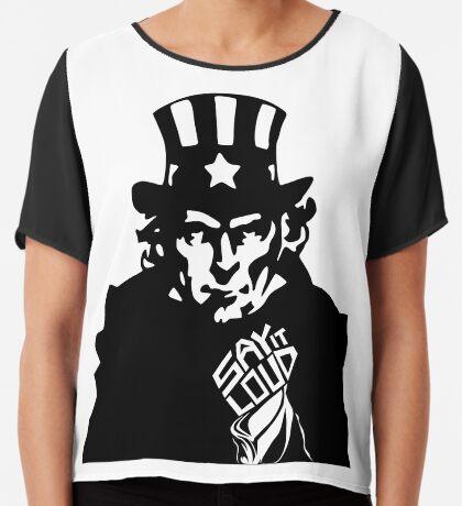 SAY IT LOUD: Uncle Sam Women's Chiffon Top