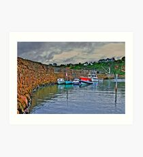 Crail harbour Art Print