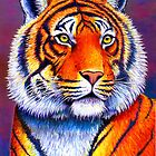 Colorful Bengal Tiger by Rebecca Wang