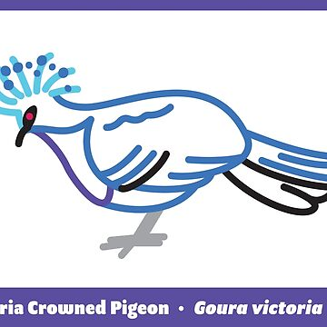 Victoria Crowned Pigeon by anatotitan