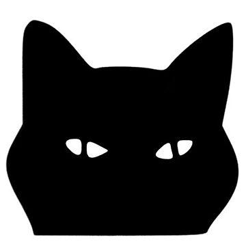 Peeking Cat by thatstickerguy