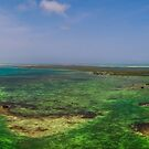 «Panorámica Nube Verde  Los Roques Venezuela» de Org Bluewater