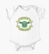 Cute Baby Chibi Adorable Cthulhu - Souls Pwease - Lovecraft Design One Piece - Short Sleeve