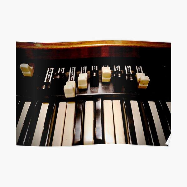 Hammond B3 Organ Poster