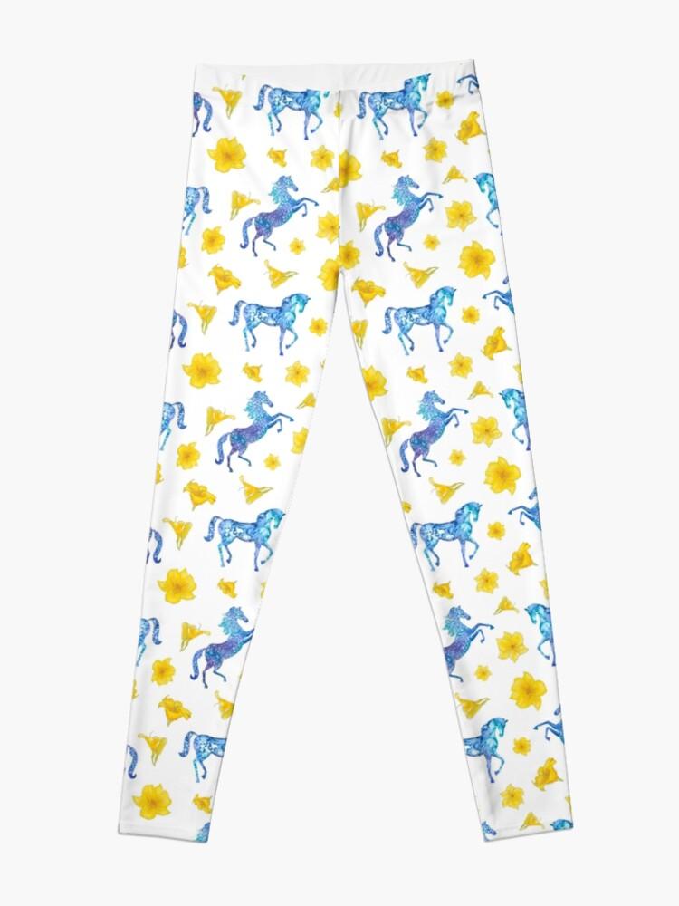 Alternate view of Blue horse love Leggings