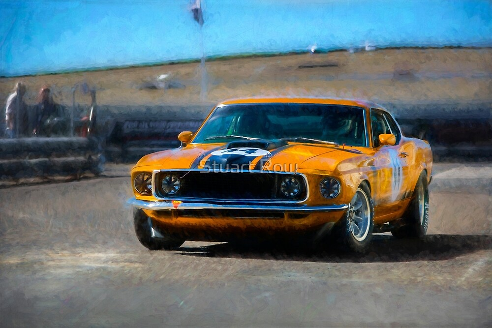 Orange Mustang by Stuart Row