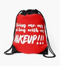 Anfisa Quotes 90 Day Fiance Tribute Art  - Red Makeup Bag  Drawstring Bag