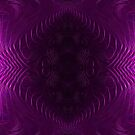 Amethyst Medallion Fractal Abstract by Artist4God