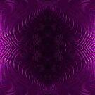 Amethyst Medallion Fractal Abstract by Artist4God