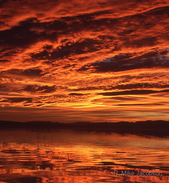 Sunset over Utah Lake by R. Mike Jacobson